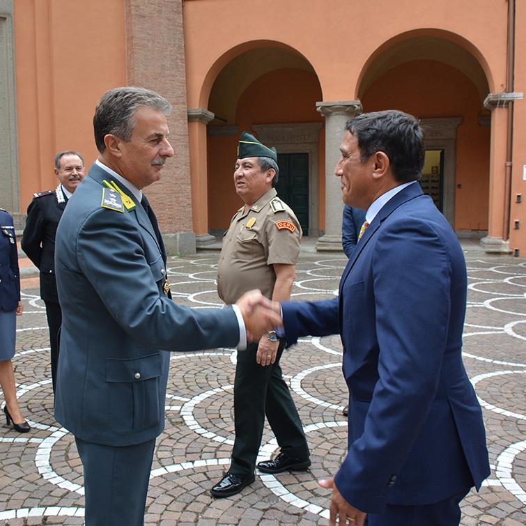 La delegazione peruviana